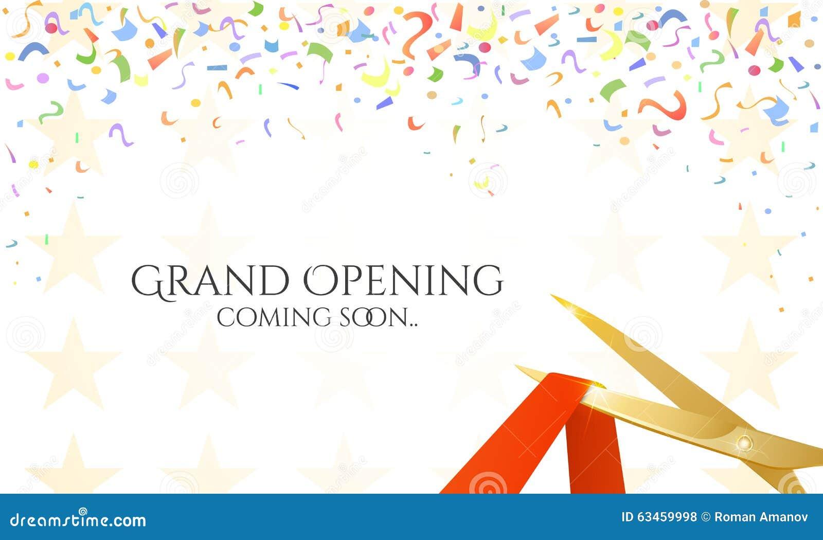 Grand Opening Celebrities Illustration Stock Illustration