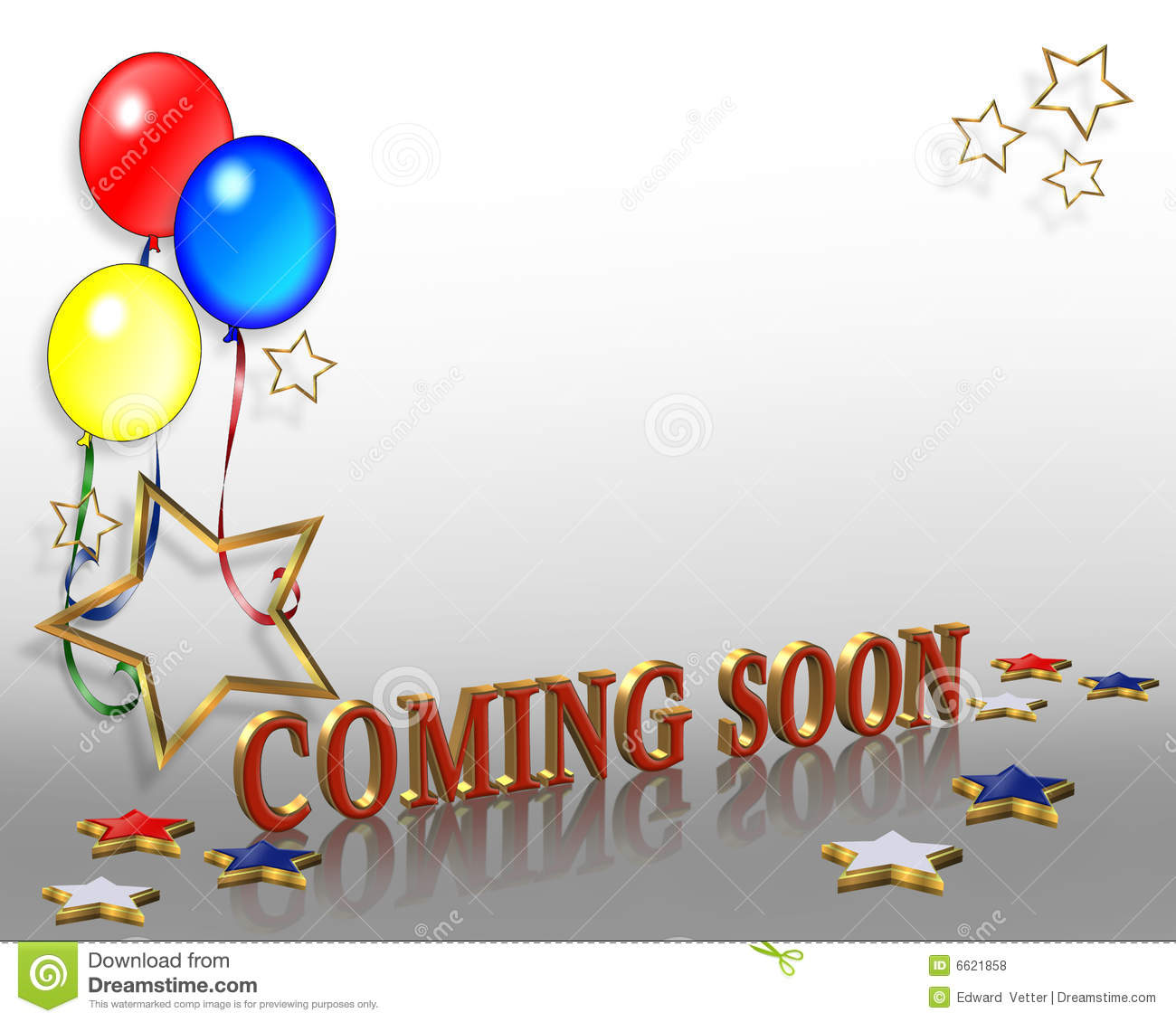 grand opening coming soon balloons stock illustration illustration