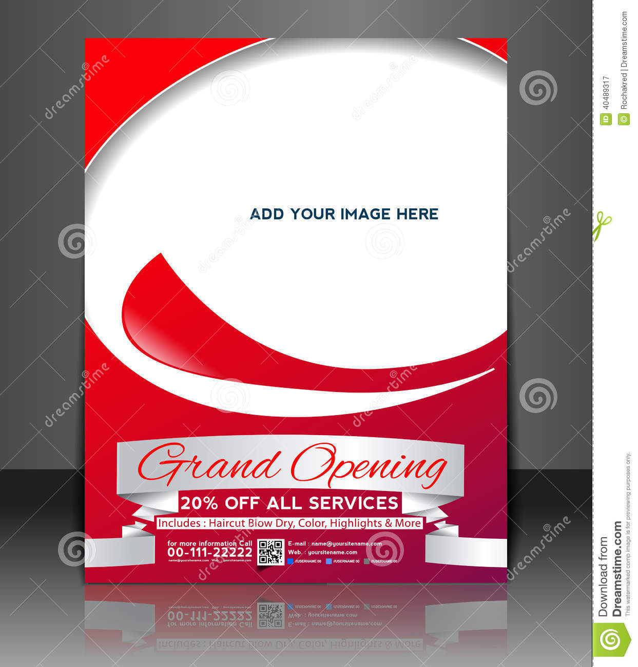 grand opening flyer design stock vector illustration of idea 40489317