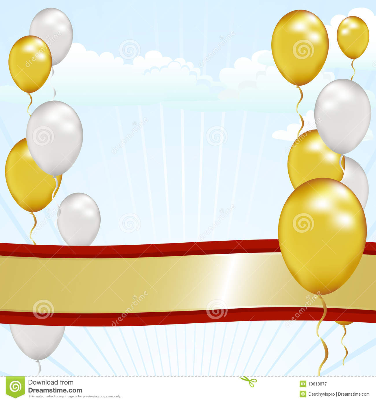 Grand Opening Ribbon Stock Illustration Image Of Helium