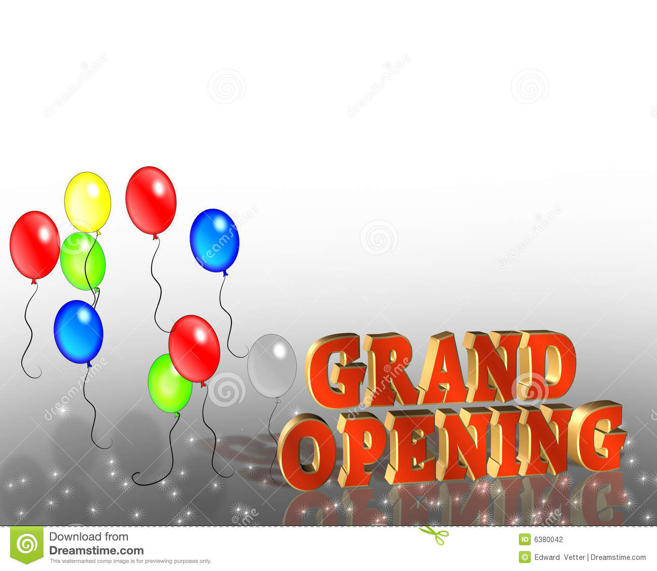 Grand Opening Sign Template Stock Illustration - Illustration of ...