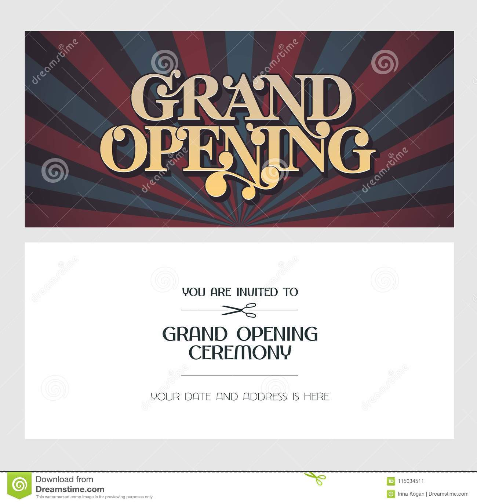 Invitation Card Sample For Inauguration Wpart Co