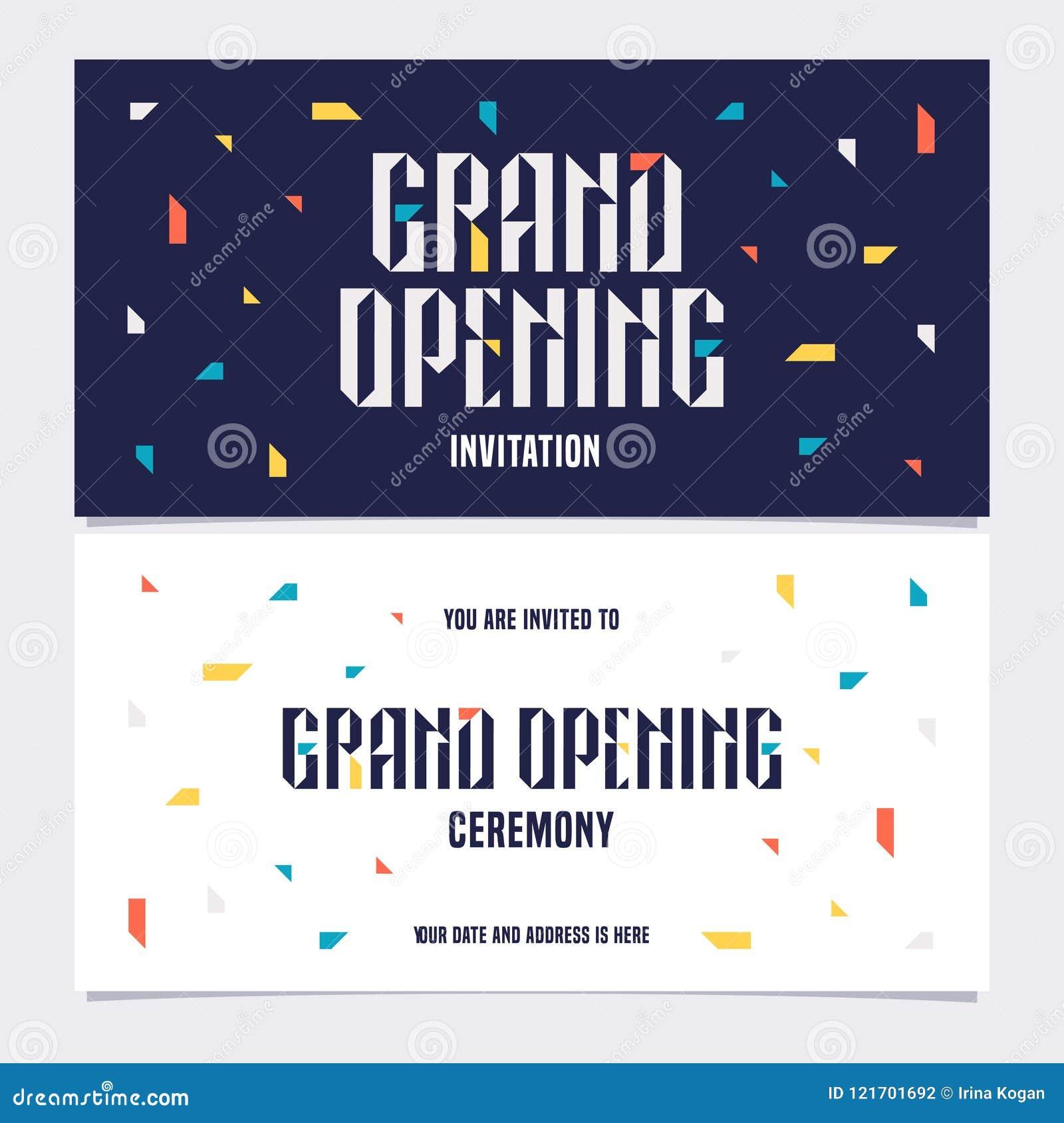 Grand Opening Vector Illustration Invitation Stock