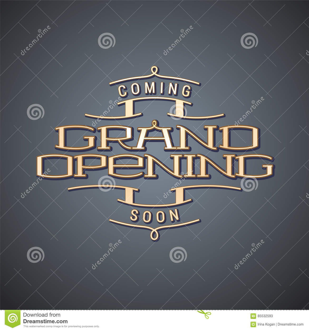 Grand Opening Vector Illustration, Background Stock Vector ...