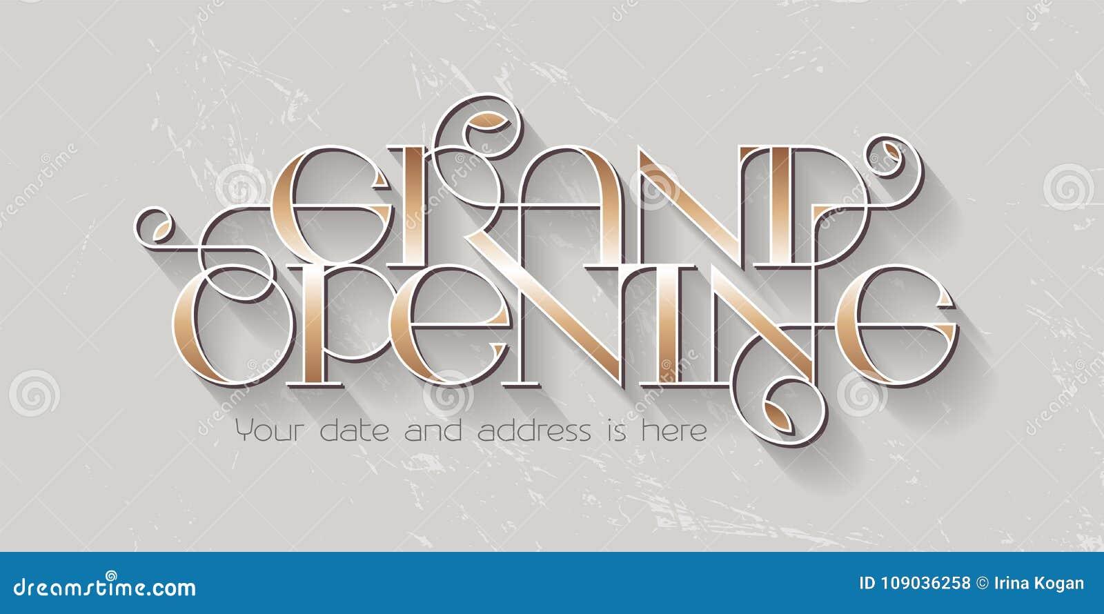 Grand Opening Vector Illustration, Banner Stock Vector ...