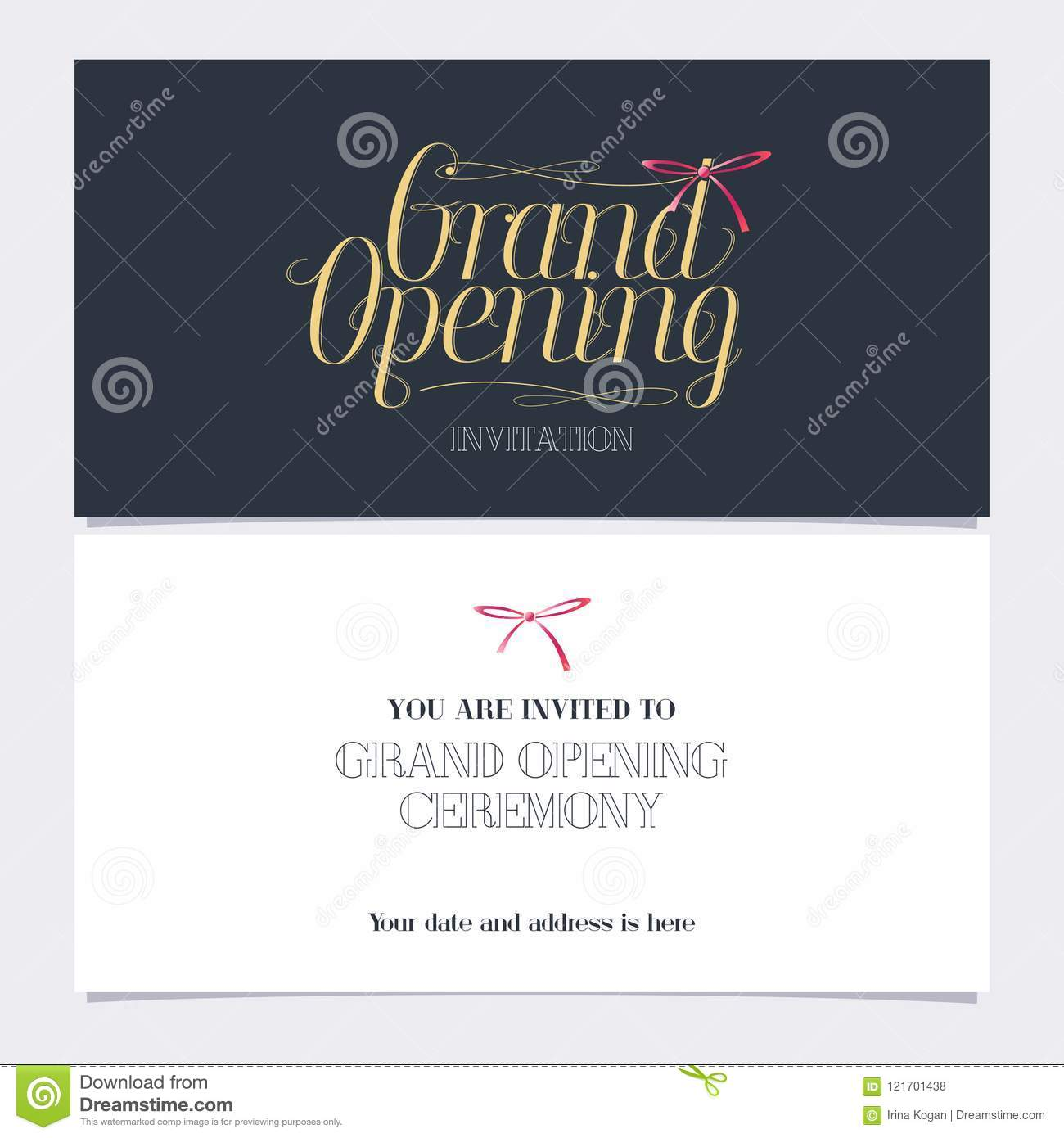 grand opening vector illustration invitation card stock vector