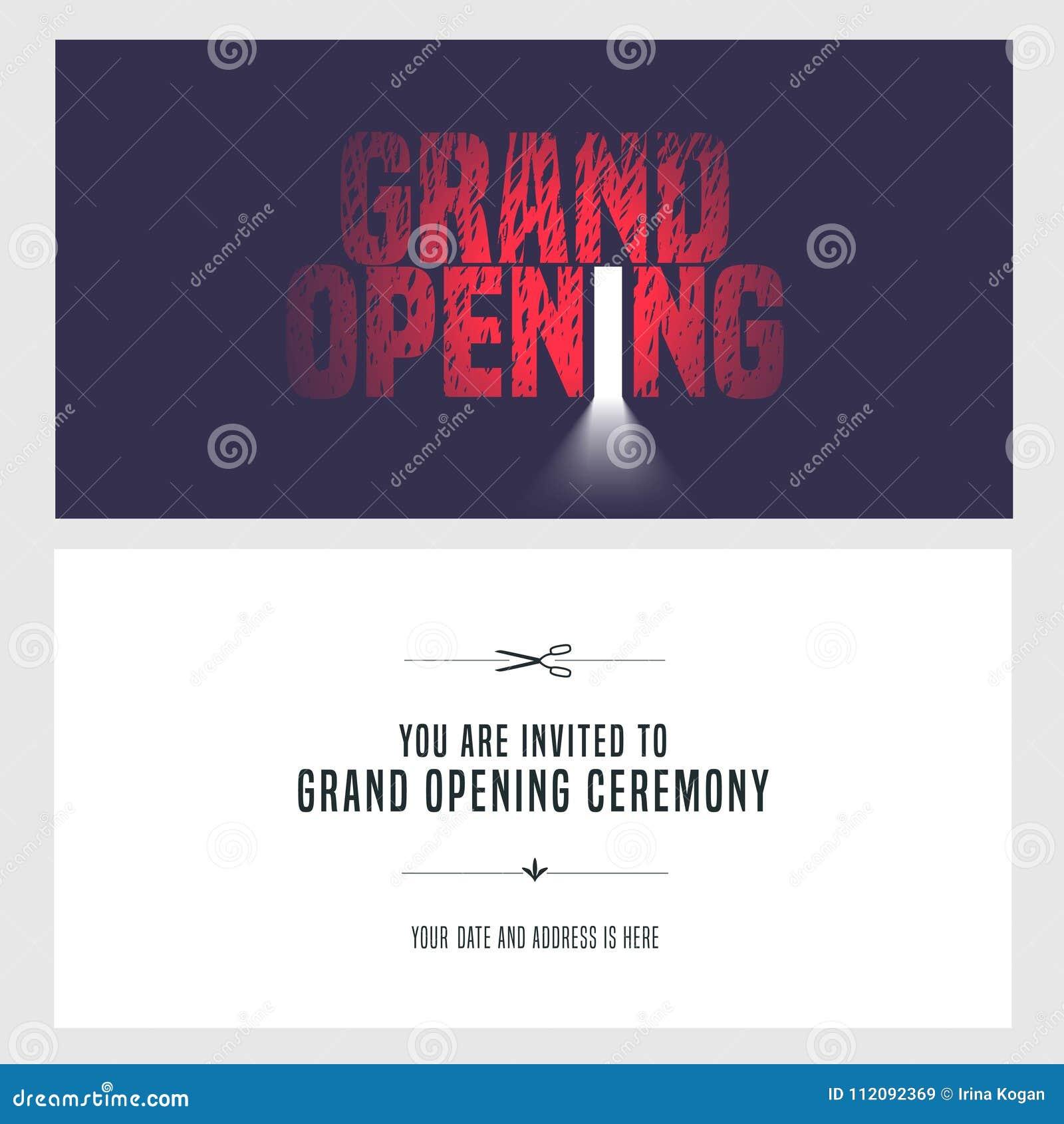 Grand Opening Vector Illustration Invitation Stock Vector