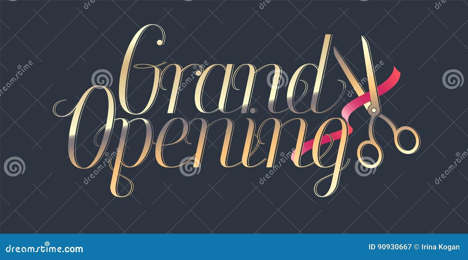 Grand Opening Vector Illustration Stock Vector - Illustration of ...