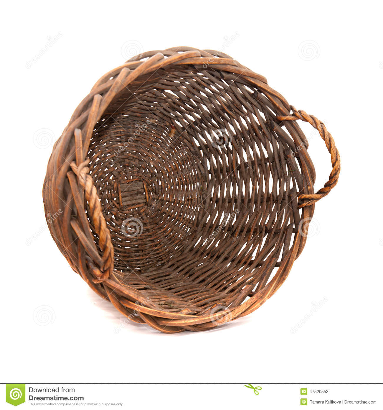 Grand panier vide photo stock image 47520553 for Prix d un conteneur vide