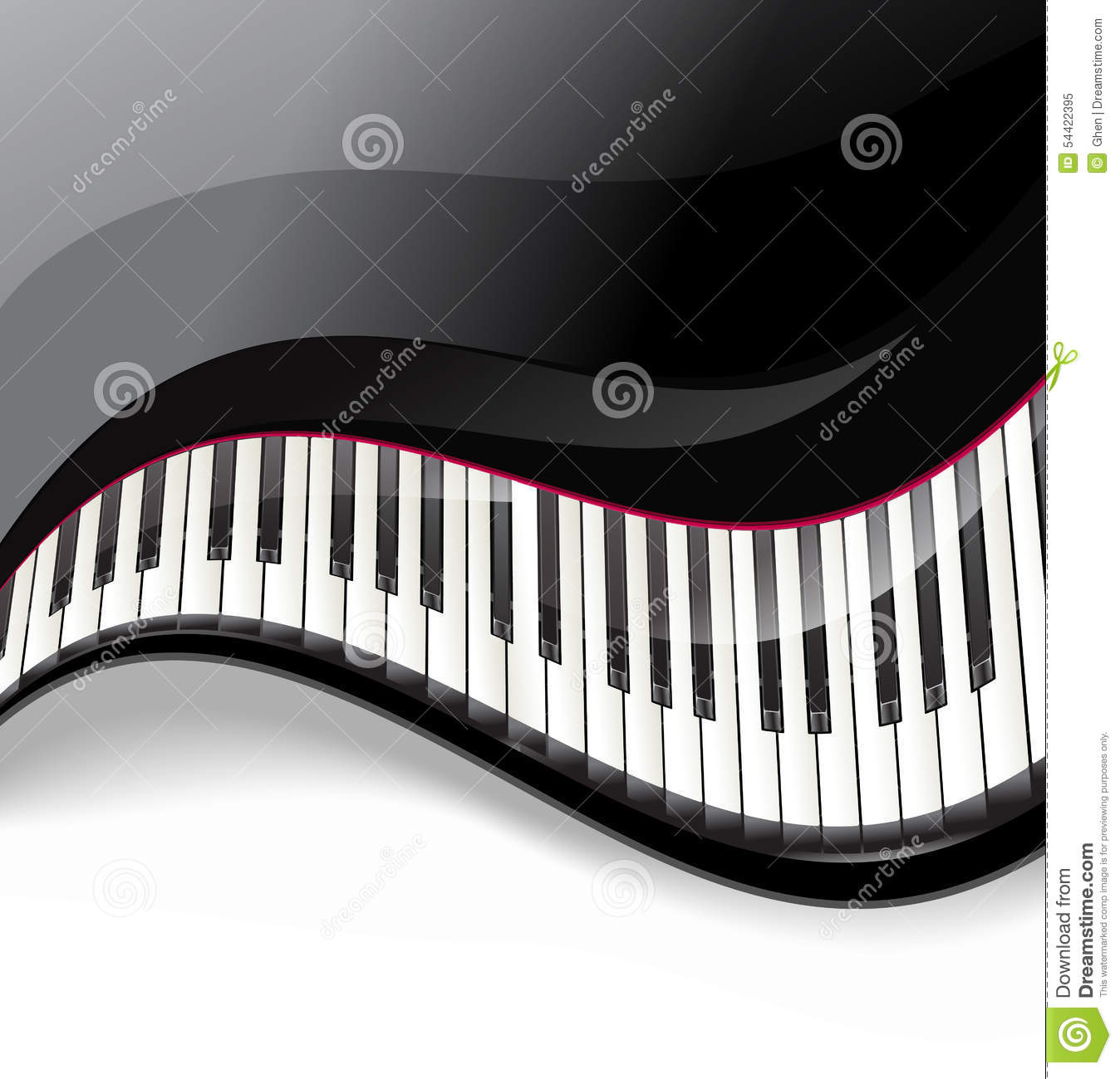 Grand Piano Keys Wavy Background Stock Vector - Image ...