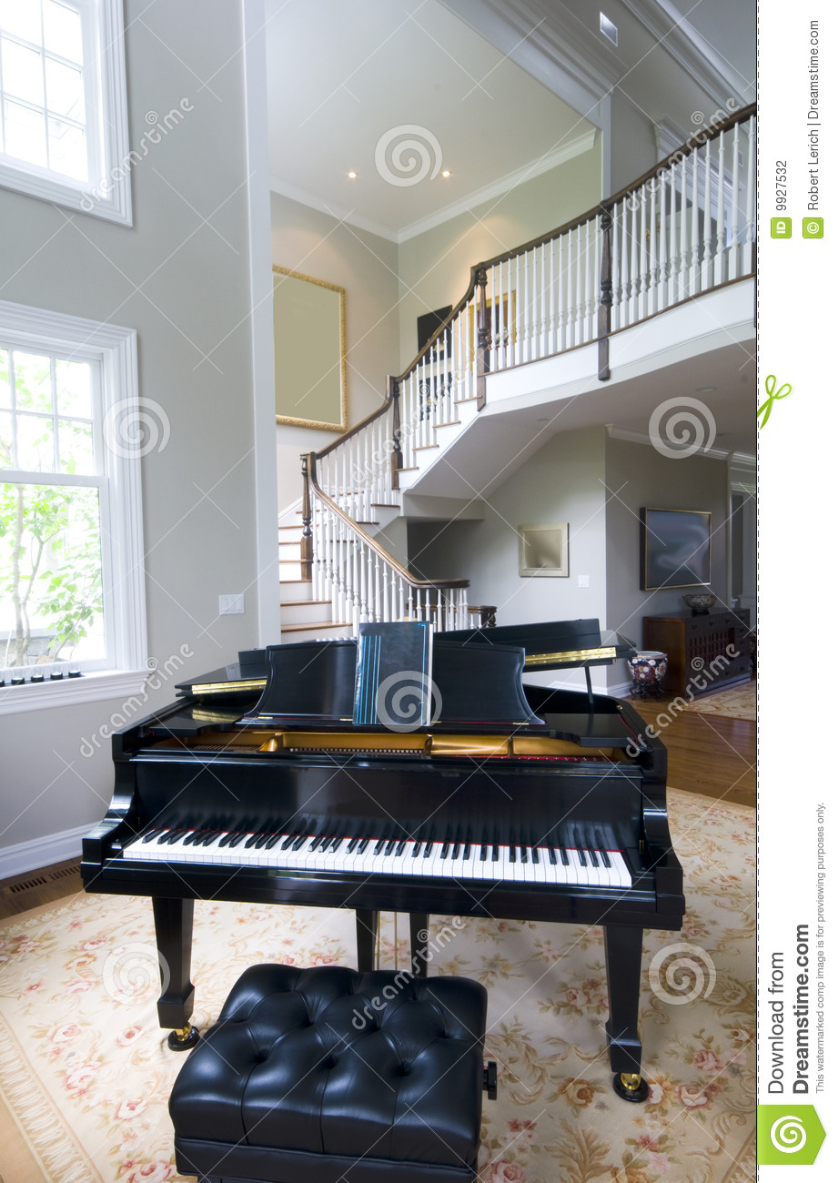 Grand piano living room stock photography image 9927532 for Grand piano in living room