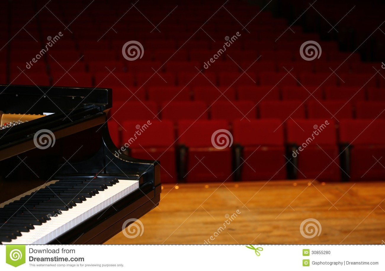 Grand Piano On Stage Stock Photo - Image: 30855280