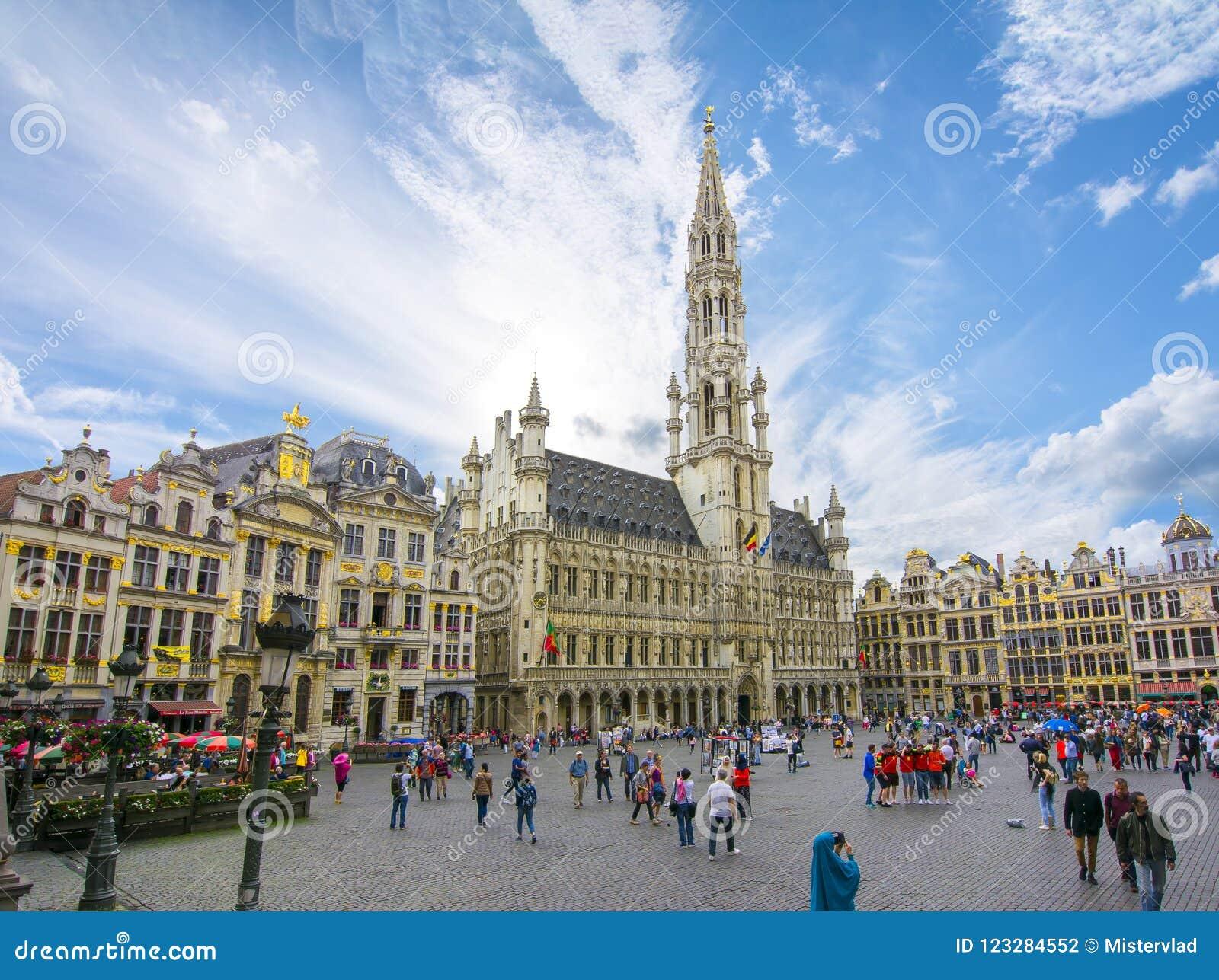 Grand Place -vierkant in centrum van Brussel, België