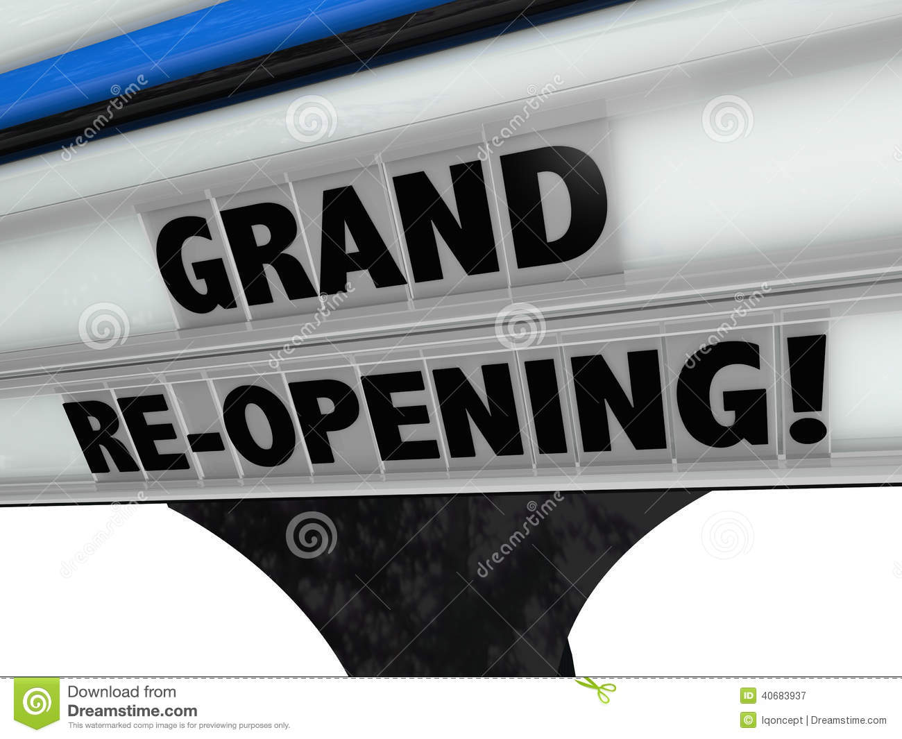 Grand Re Opening Business New Look Refresh Remodel Stock