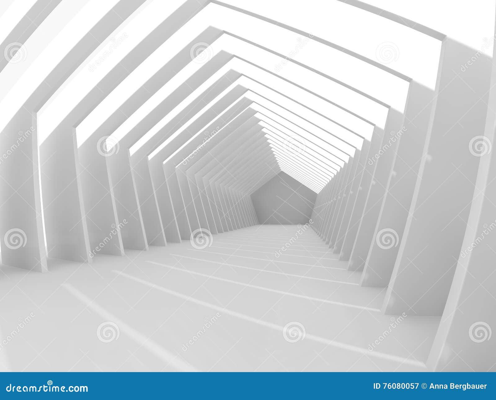 Grand rendu léger vide du hall 3D
