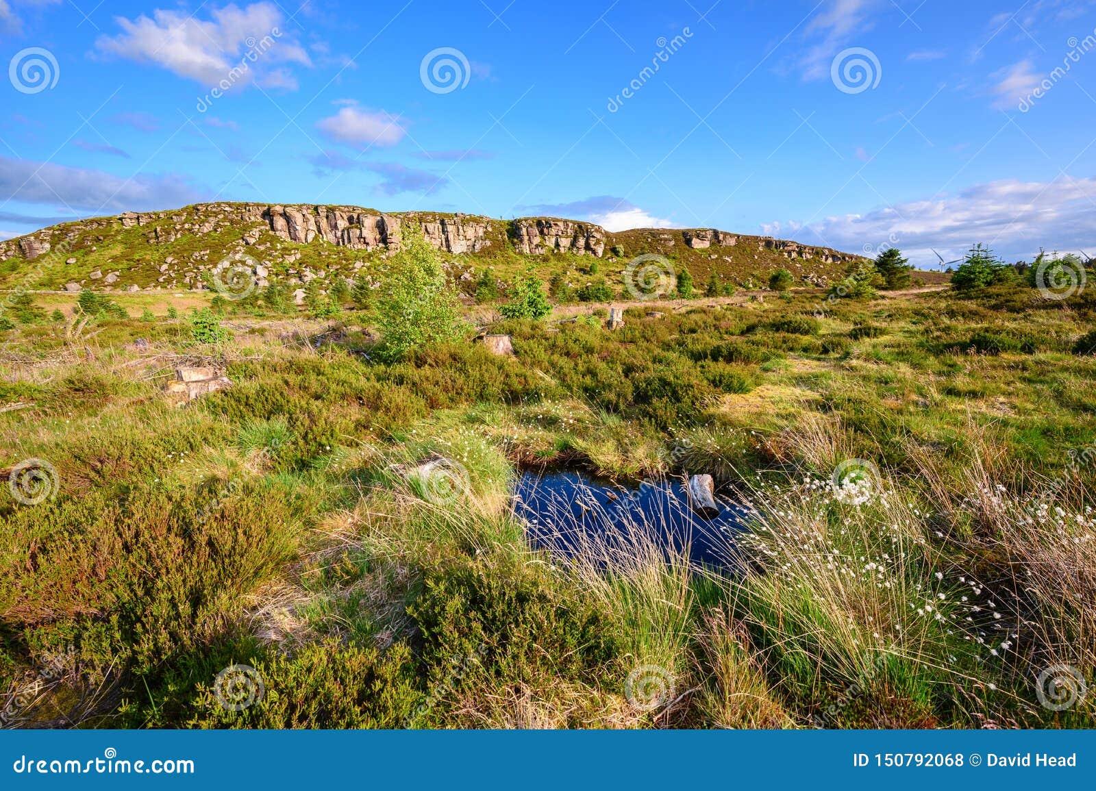 Grand rocher de Wanney avec le petit étang