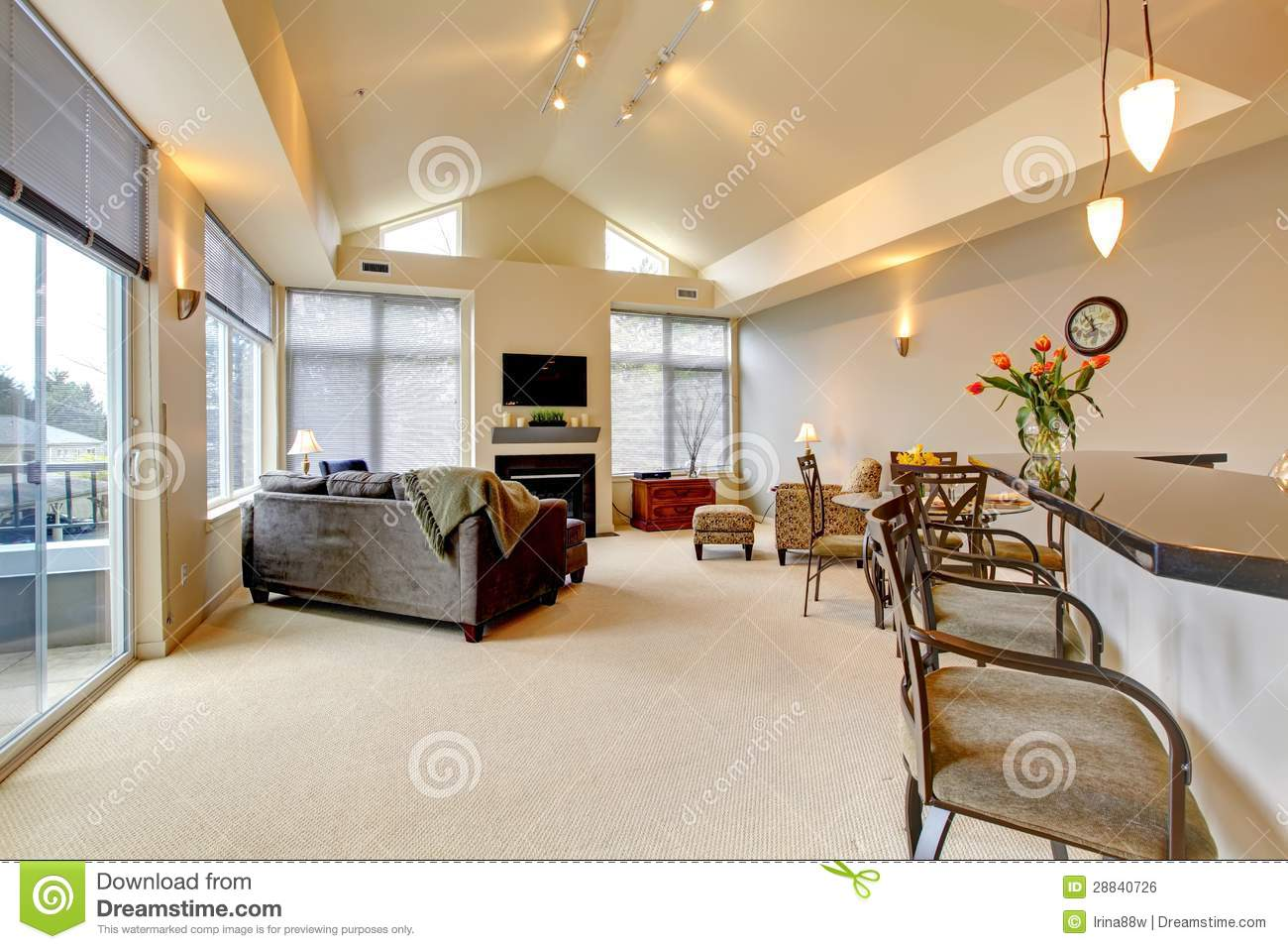 Beau salon d'un appartement de luxe photo stock   image: 54072861