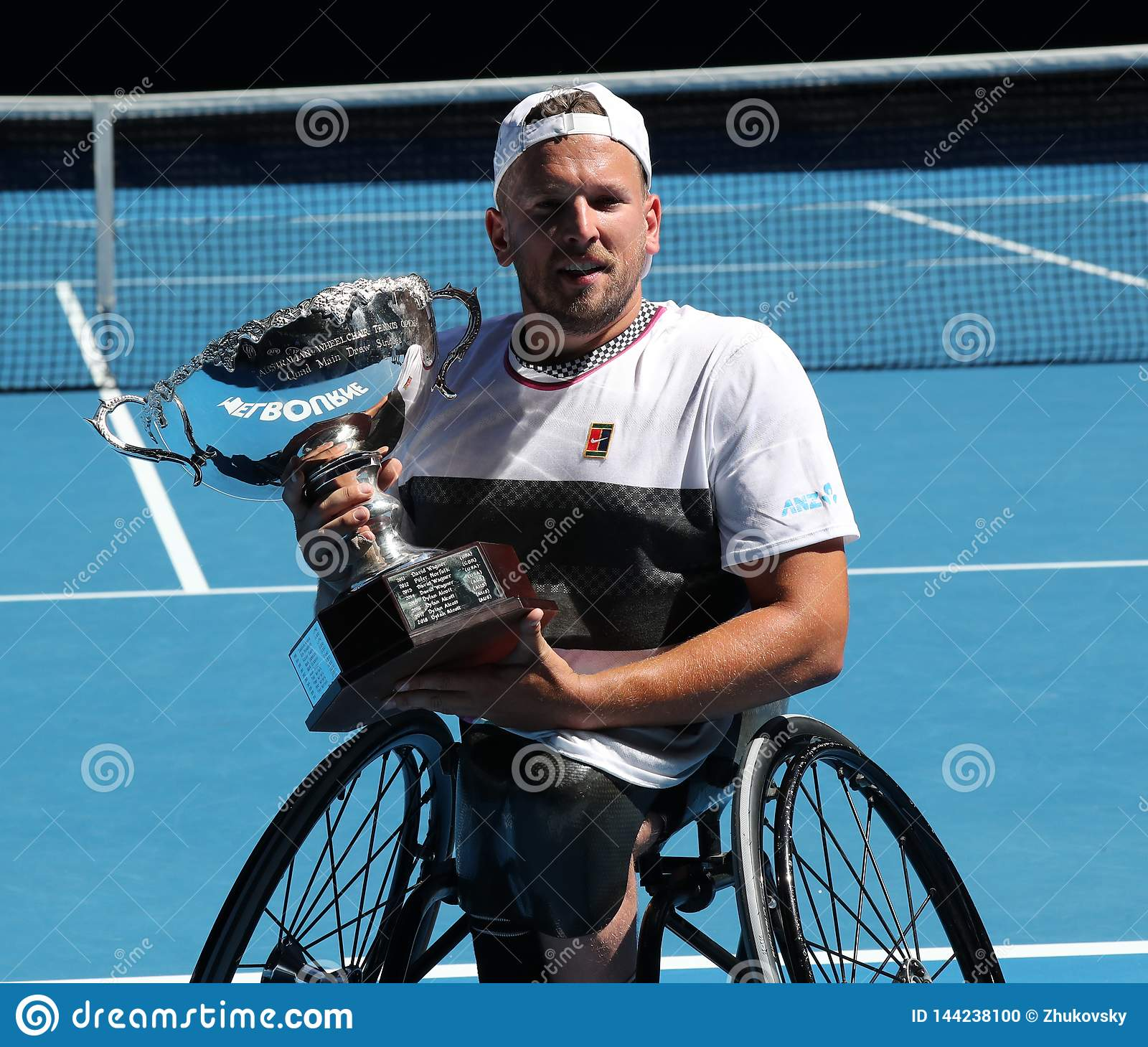 Grand Slam Champion Dylan Alcott Of Australia During Trophy
