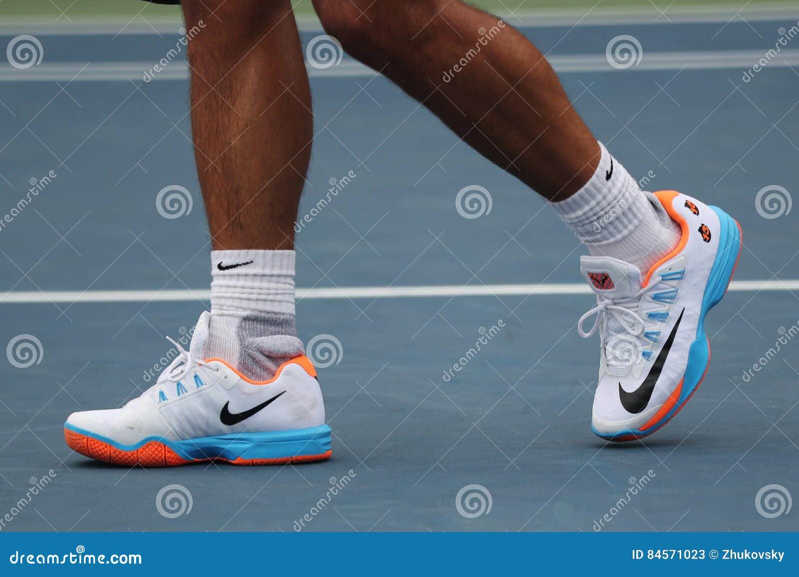 285c11fd8fd Grand Slam Champion Rafael Nadal Of Spain Wears Custom Nike Tennis ...