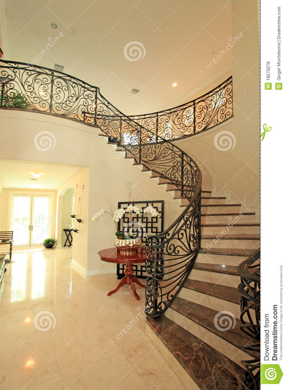 Grand staircase stock photo image of stairs interior for Grand staircase design