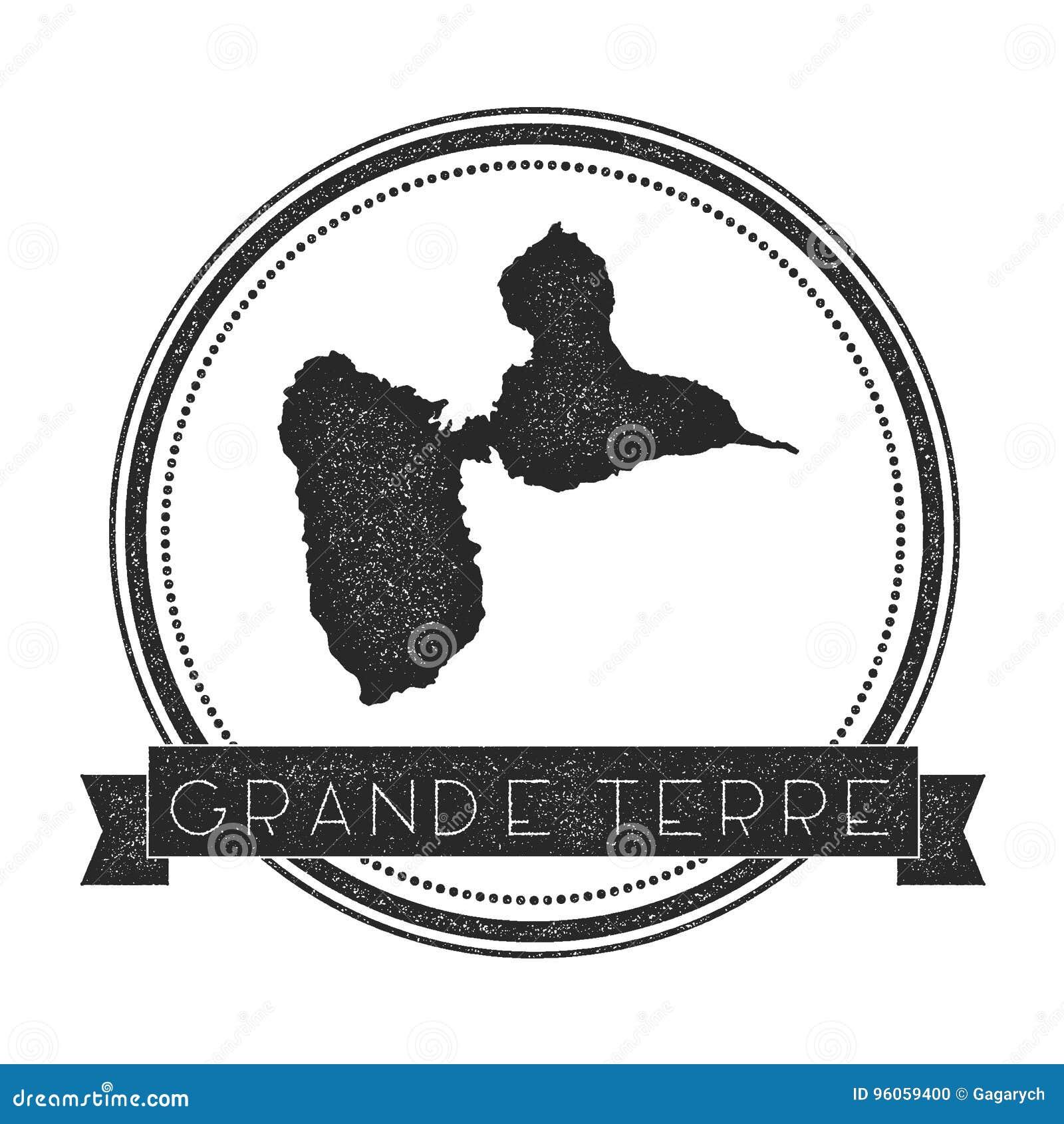 Grand-Terre timbre de carte