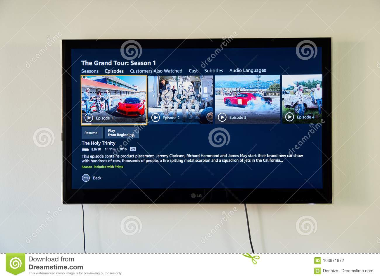 The Grand Tour on LG TV editorial photography  Image of