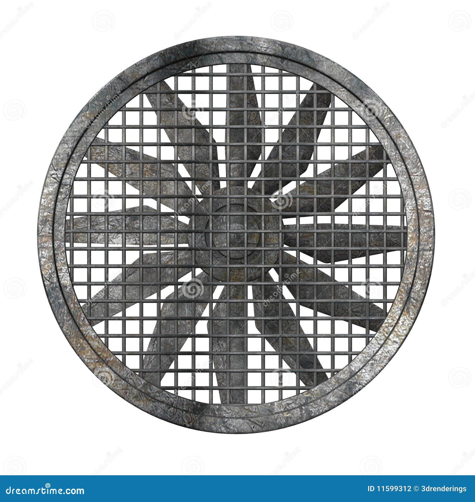 Grand Ventilateur Industriel graphie stock Image