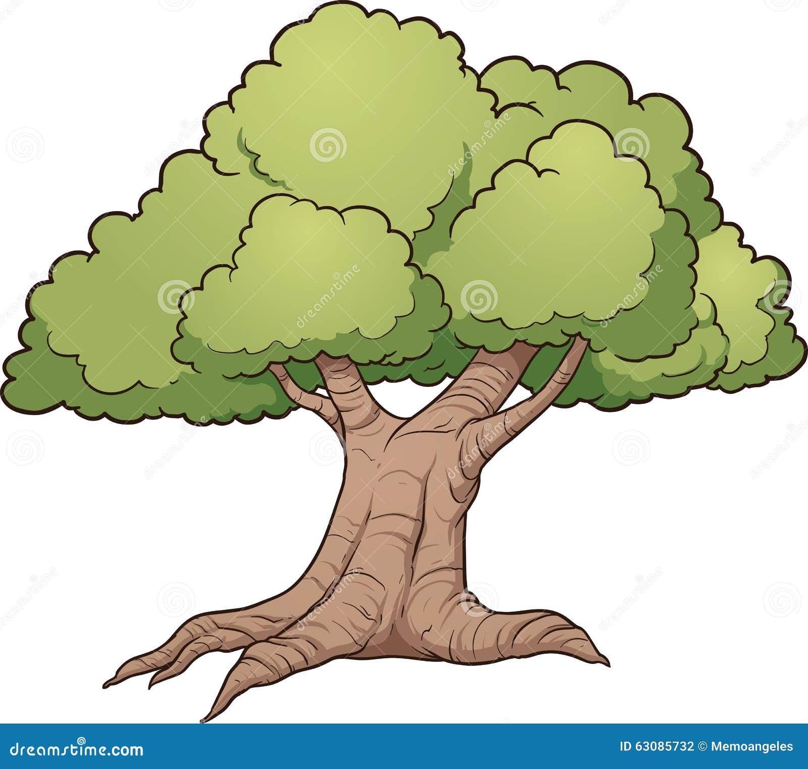Download Grand vieil arbre illustration de vecteur. Illustration du vecteur - 63085732