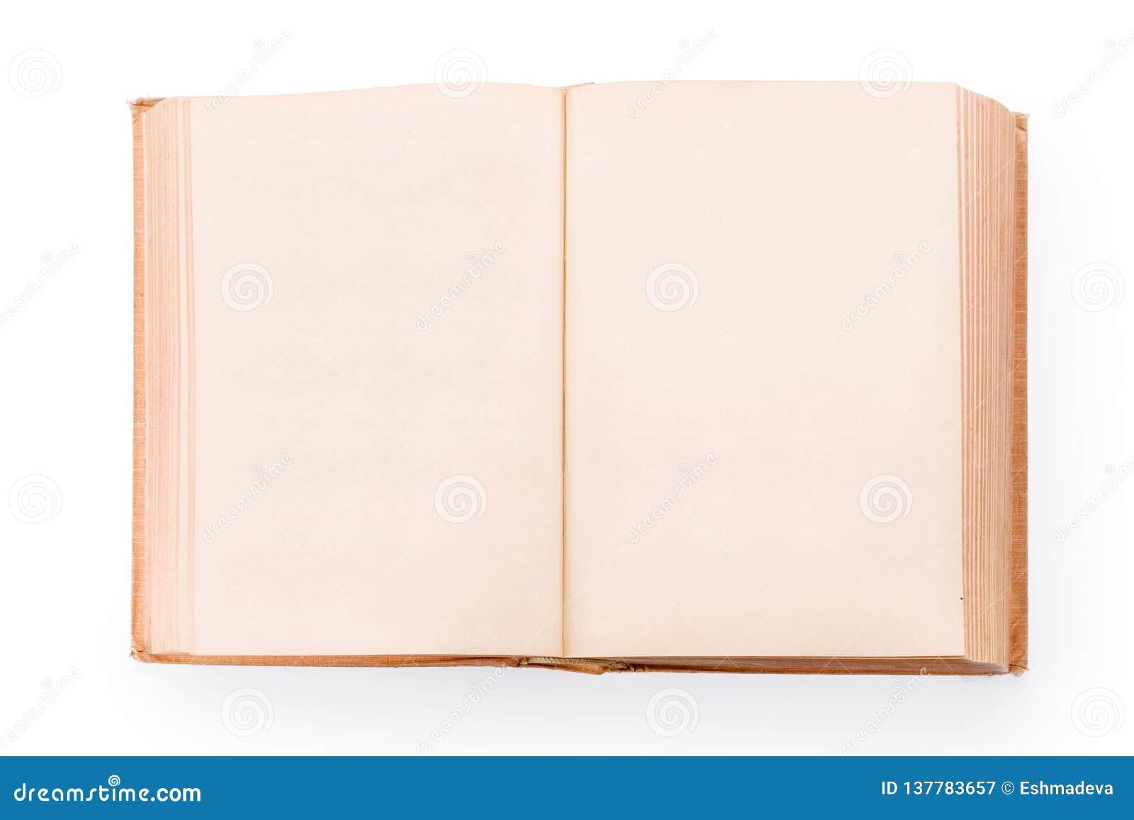 Grand Vieux Livre Ouvert Avec Les Pages Vides D Isolement