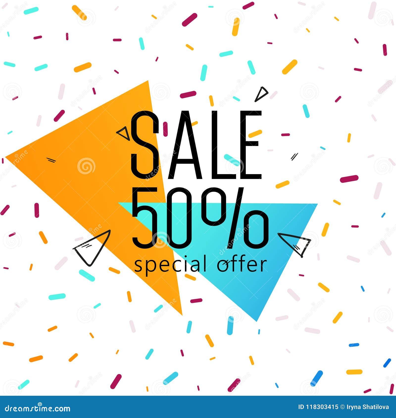 Grand week-end de vente, bannière d offre spéciale jusqu à 50  Illustration de vecteur
