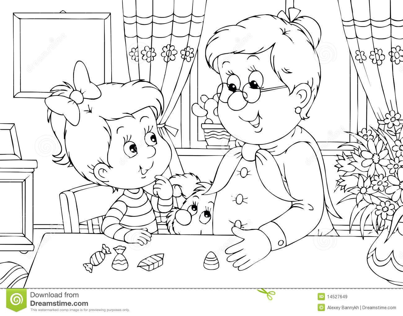 Coloring pages kitchen - In The Kitchen Coloring Pages Free Printable Coloring Pages
