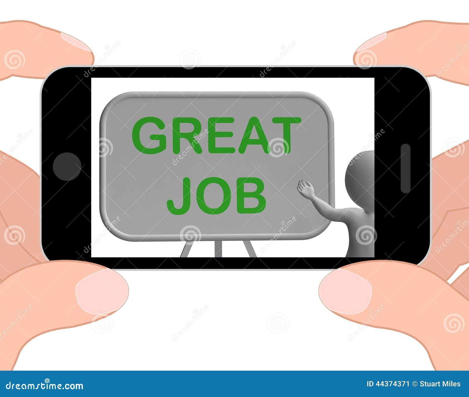 Grande approvazione di Job Phone Means Affirmation And
