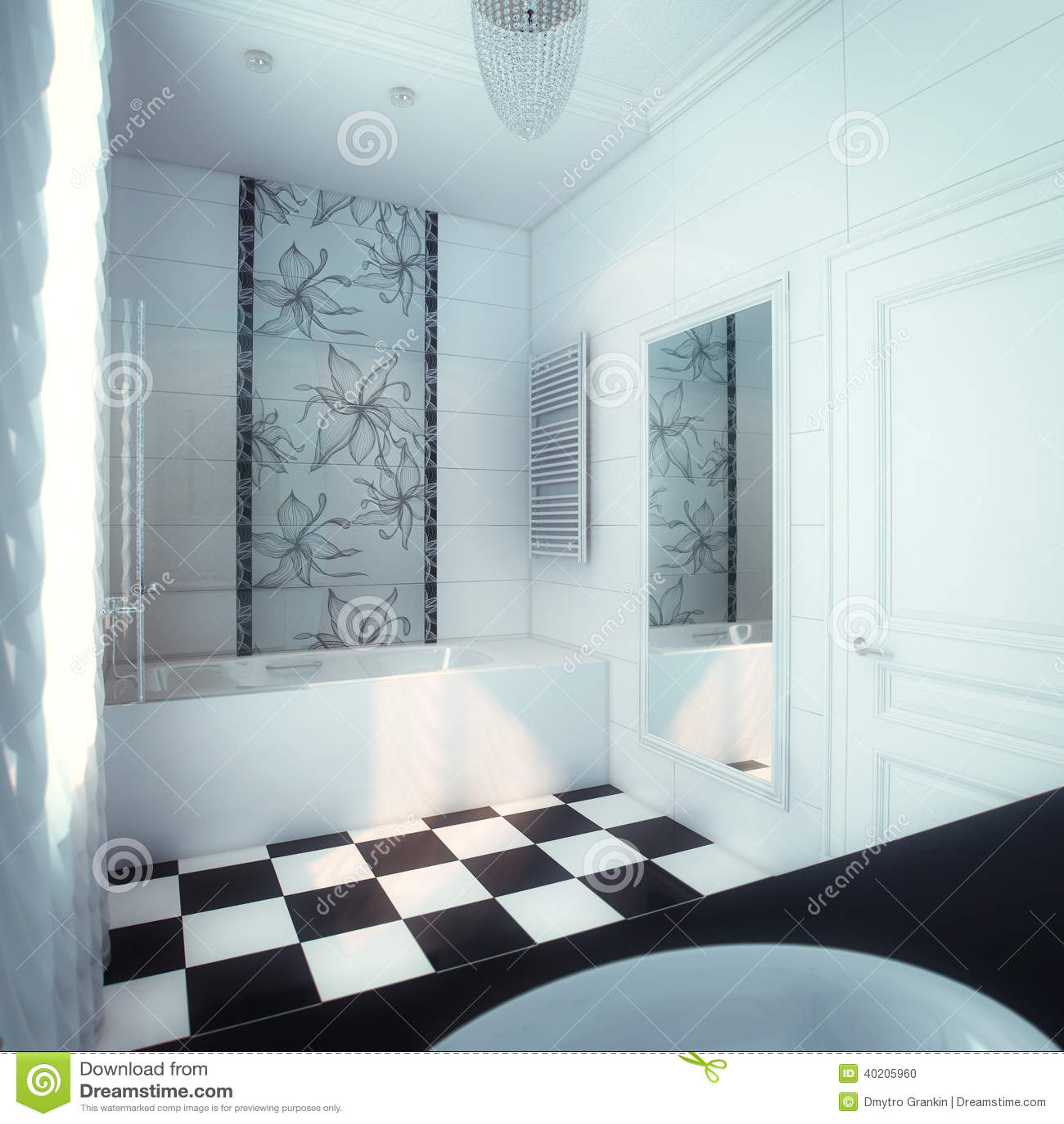Grande Banheiro Bonito Na Casa Luxuosa Foto de Stock Imagem  #83A427 1300x1390 Banheiro Bonito