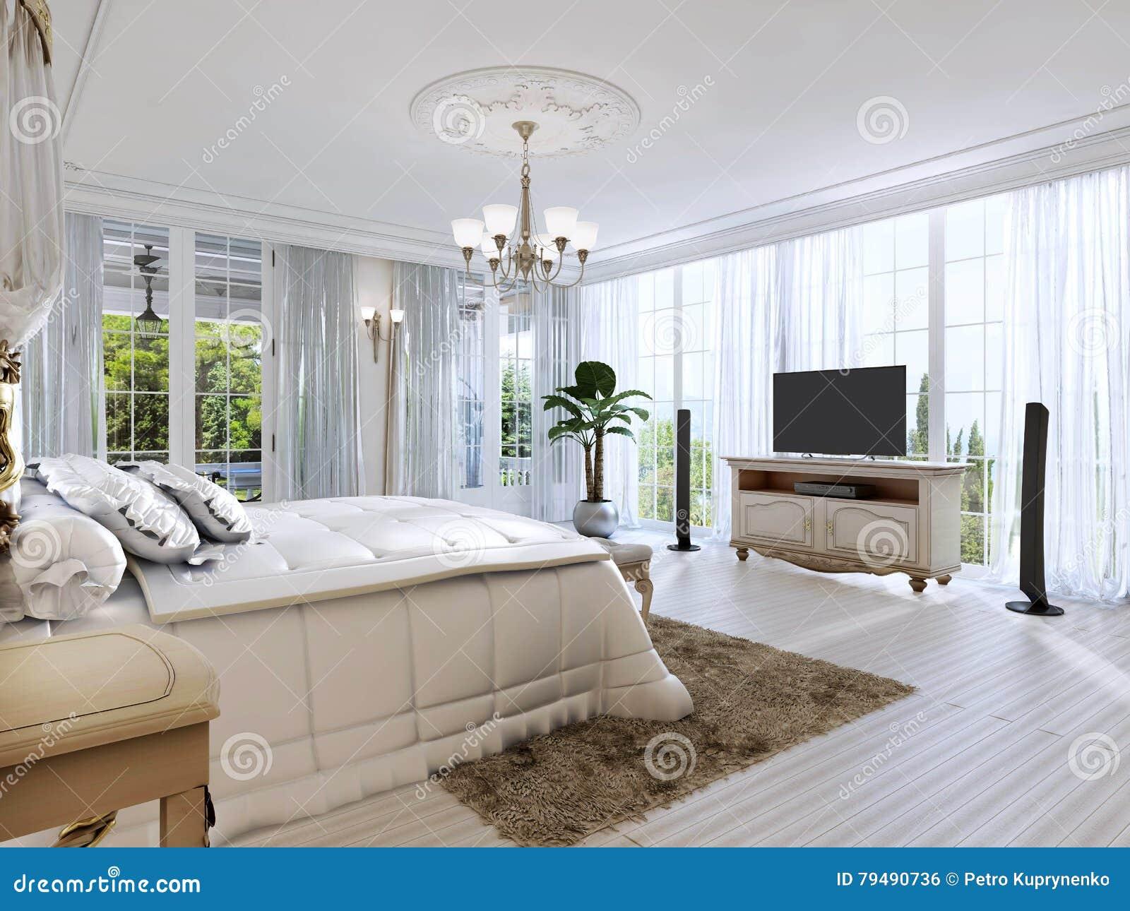 Stanze Da Letto Bellissime : Grande camera da letto con windows panoramico e le belle viste