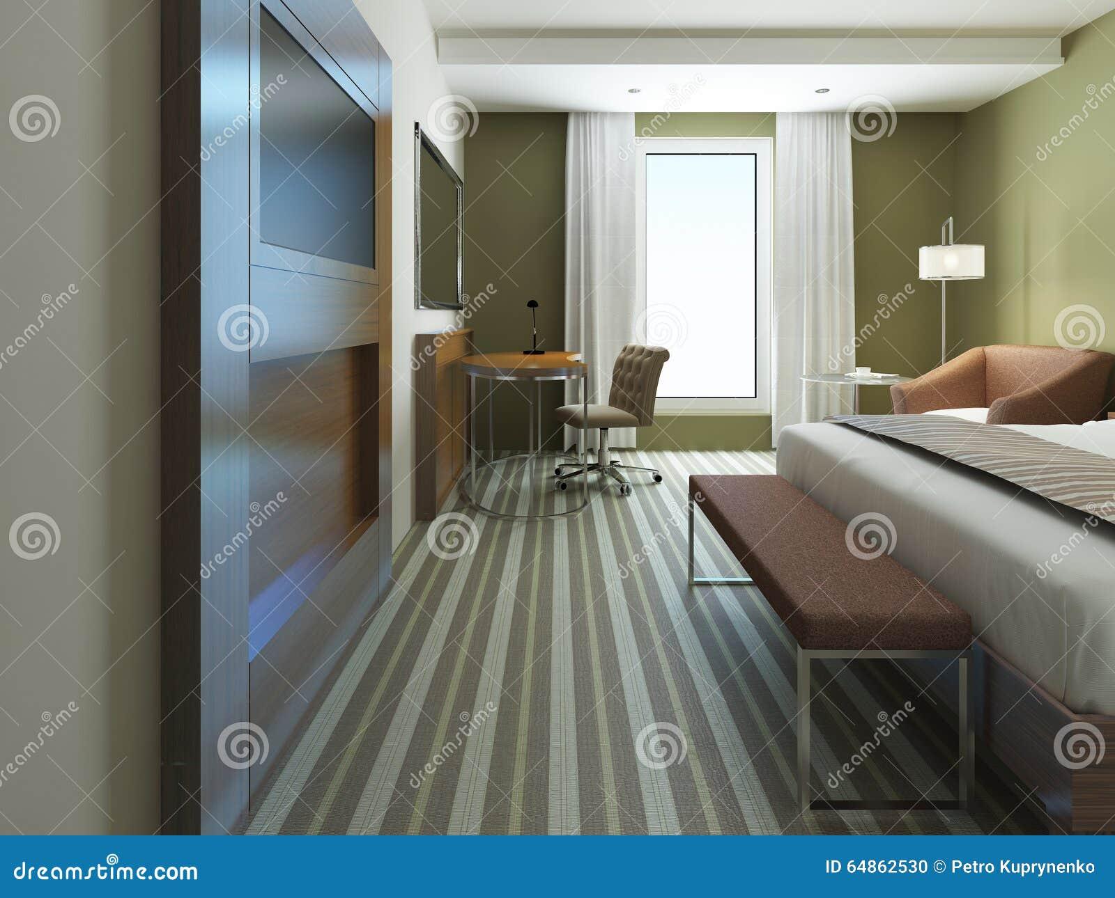 Camera Da Letto Stile Minimalista : Grande camera da letto nello stile minimalista fotografia stock
