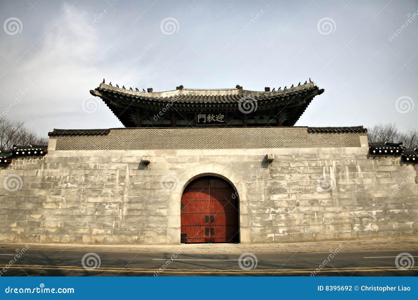 Grande cancello asiatico