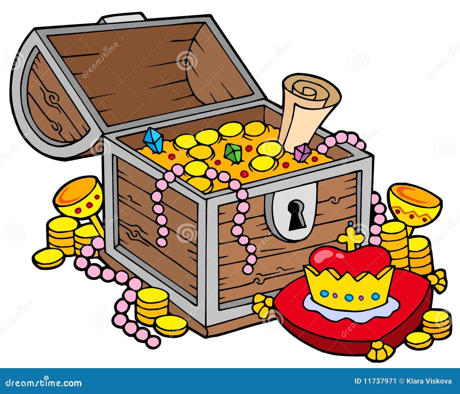 Grande Cassa Di Tesoro Illustrazione Di Stock Illustrazione Di