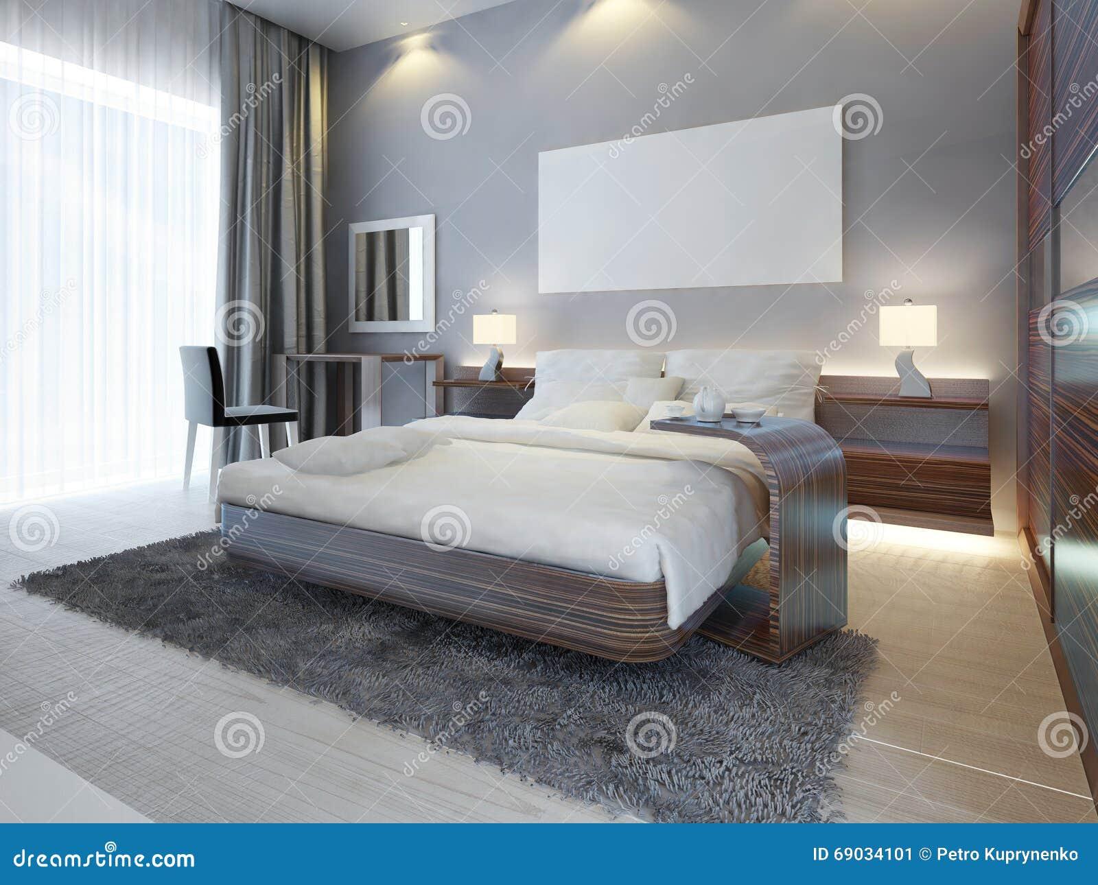 Grande Chambre à Coucher De Luxe Dans Le Blanc De Style ...