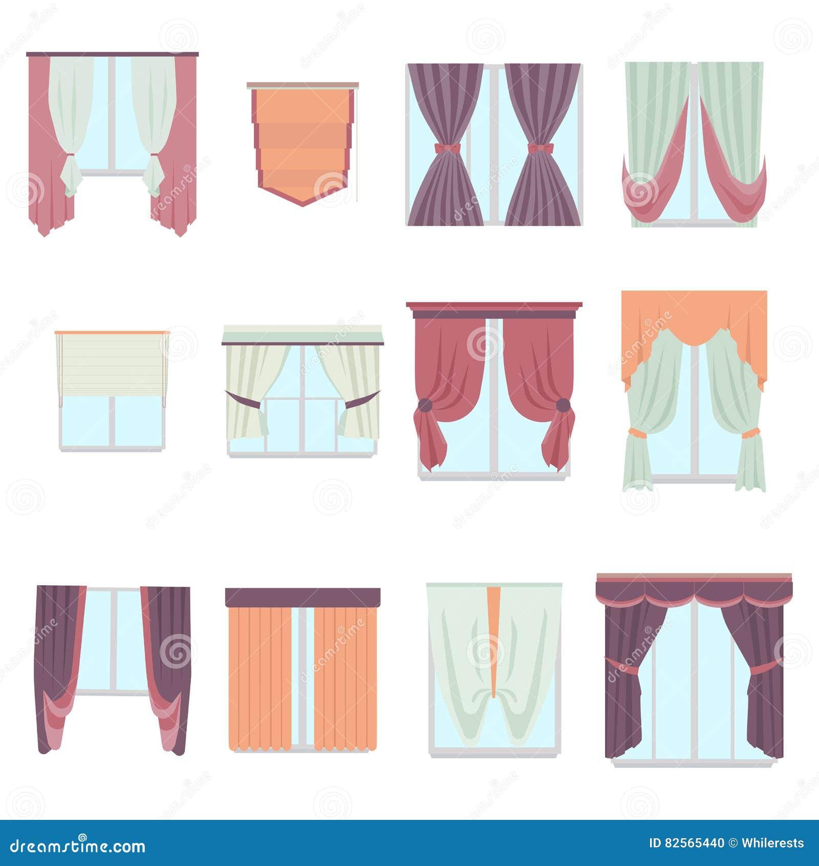 Decoration Maison Interieur Rideaux grande collection de divers rideaux en décoration de fenêtre