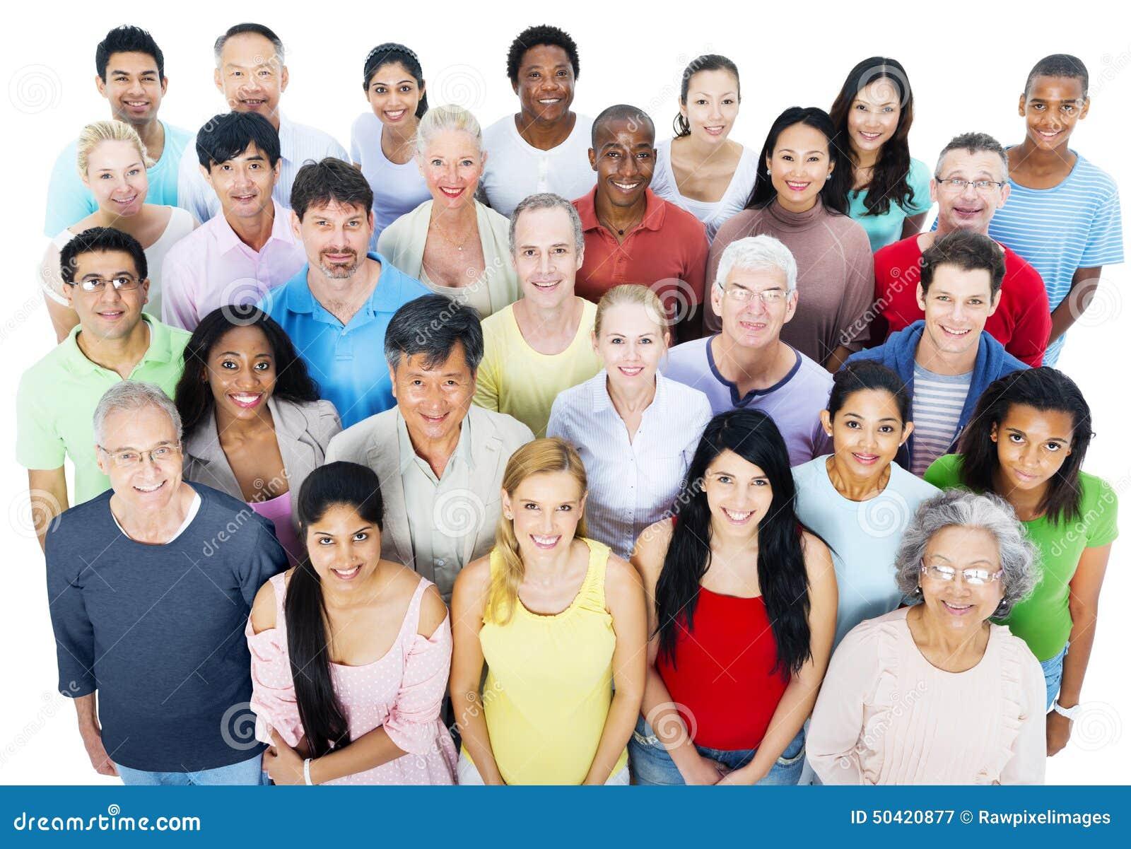 Grande conceito de uma comunicação da comunidade dos povos do grupo
