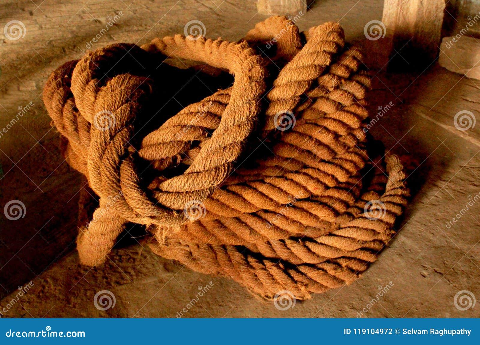 Grande corda della fibra di cocco di vecchia eredità