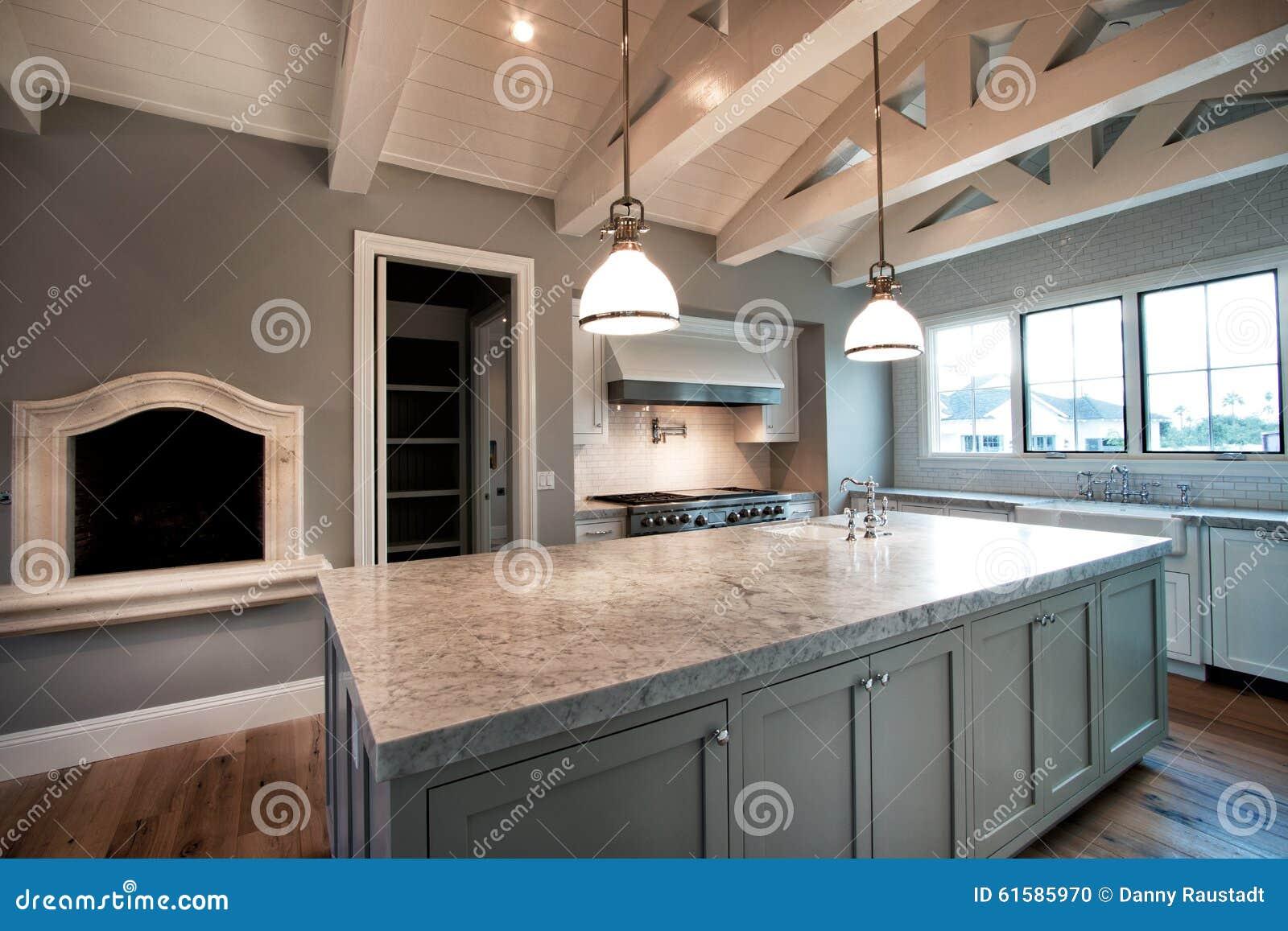 Grande cozinha home moderna nova