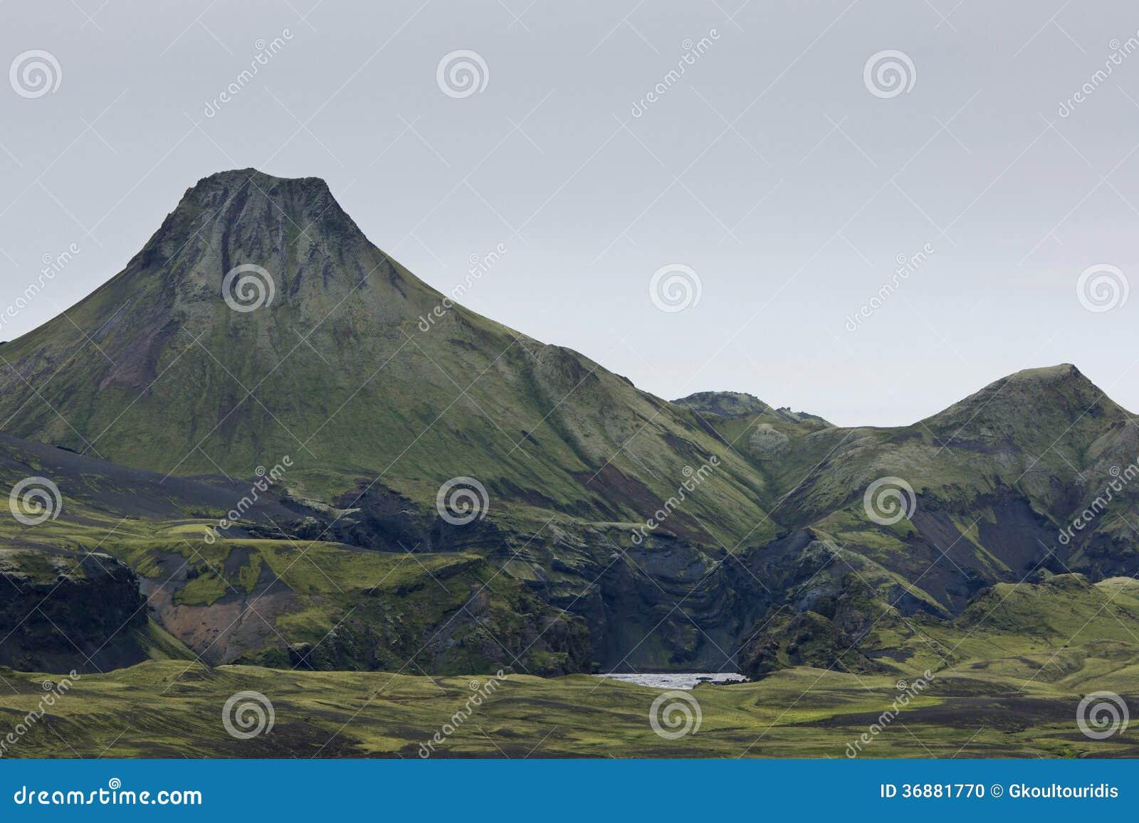 Download Grande Cratere Di Eruzione A Lakagigar, Islanda Fotografia Stock - Immagine di polare, naturalizzato: 36881770