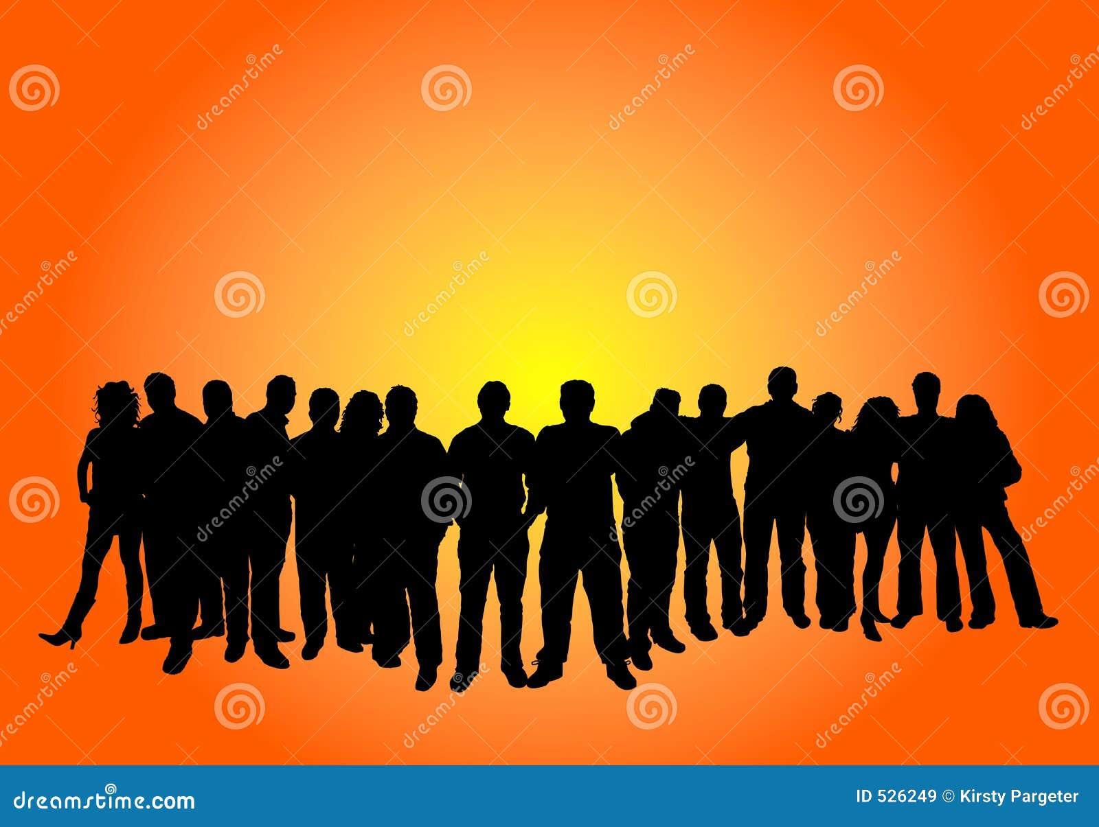 Grande grupo de pessoas