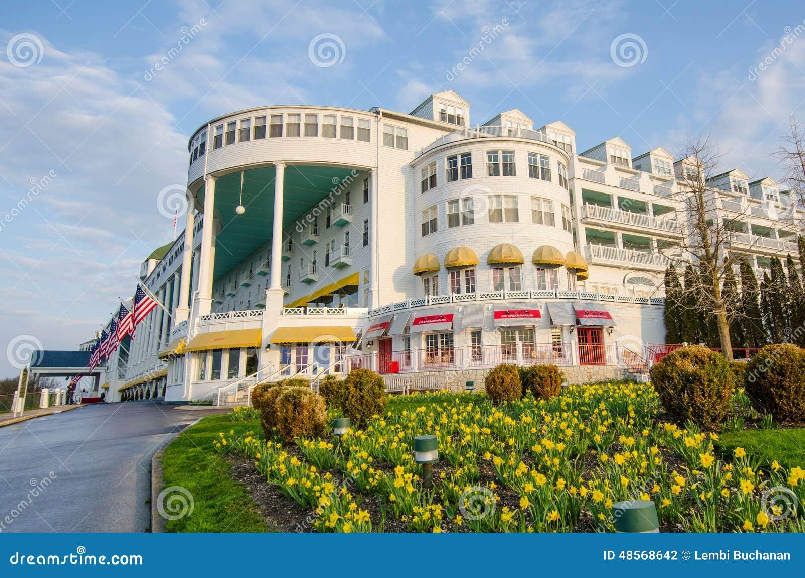 Grande hotel storico sull 39 isola di mackinac fotografia for L hotel della cabina islanda