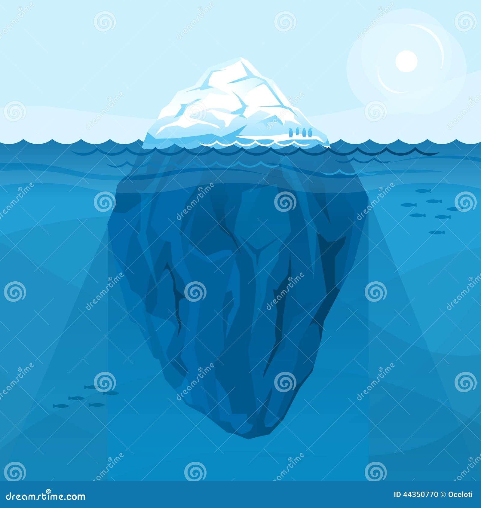 Grande iceberg pieno nel mare