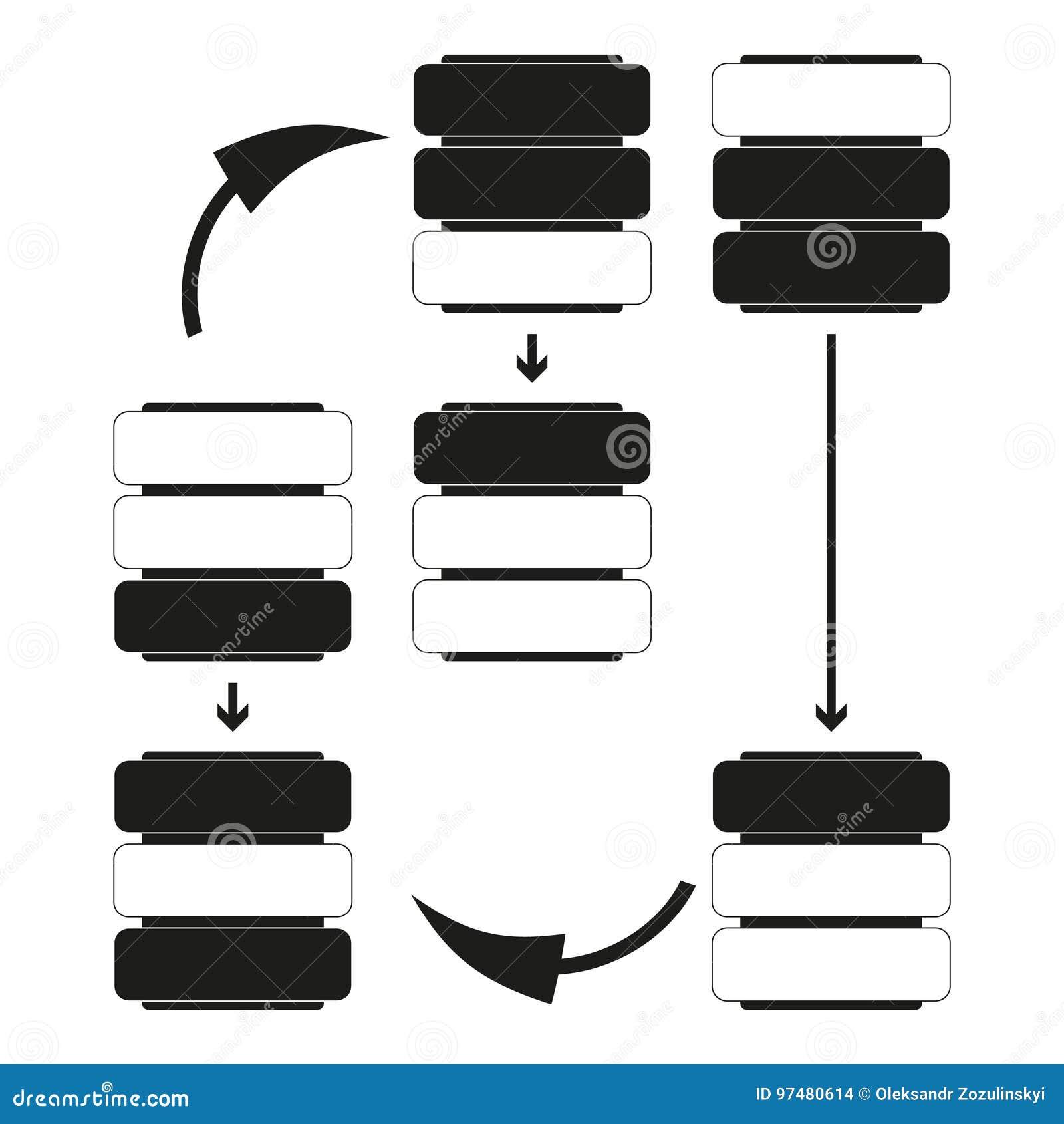 Grande icona del nero di vettore di dati di concetto su fondo bianco