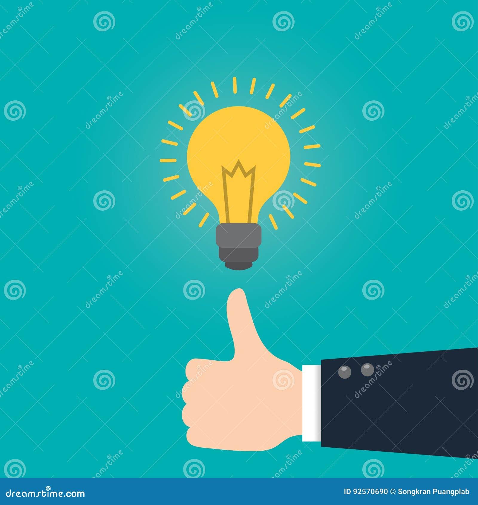 Grande idea, concetto di idea di affari, illustrazione piana di vettore di stile