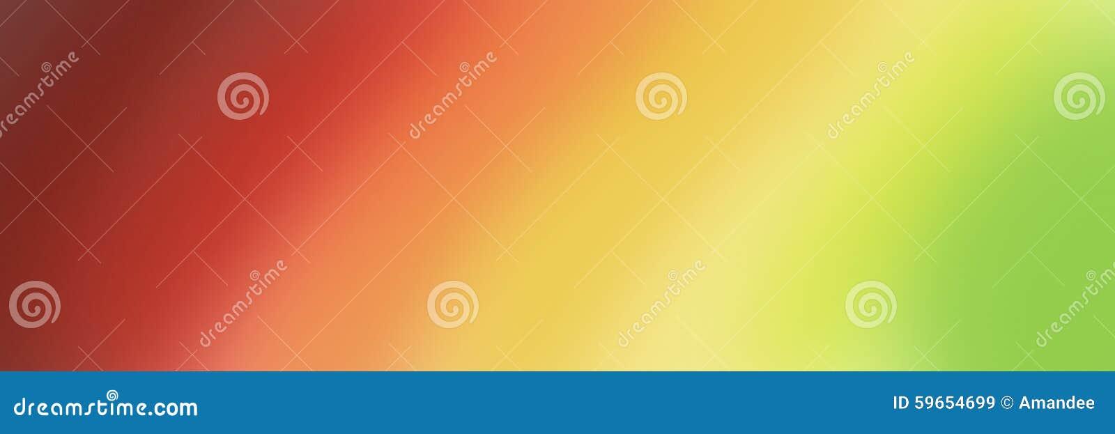 Grande insegna astratta nelle tonalità di pendenza di giallo e verde rossi