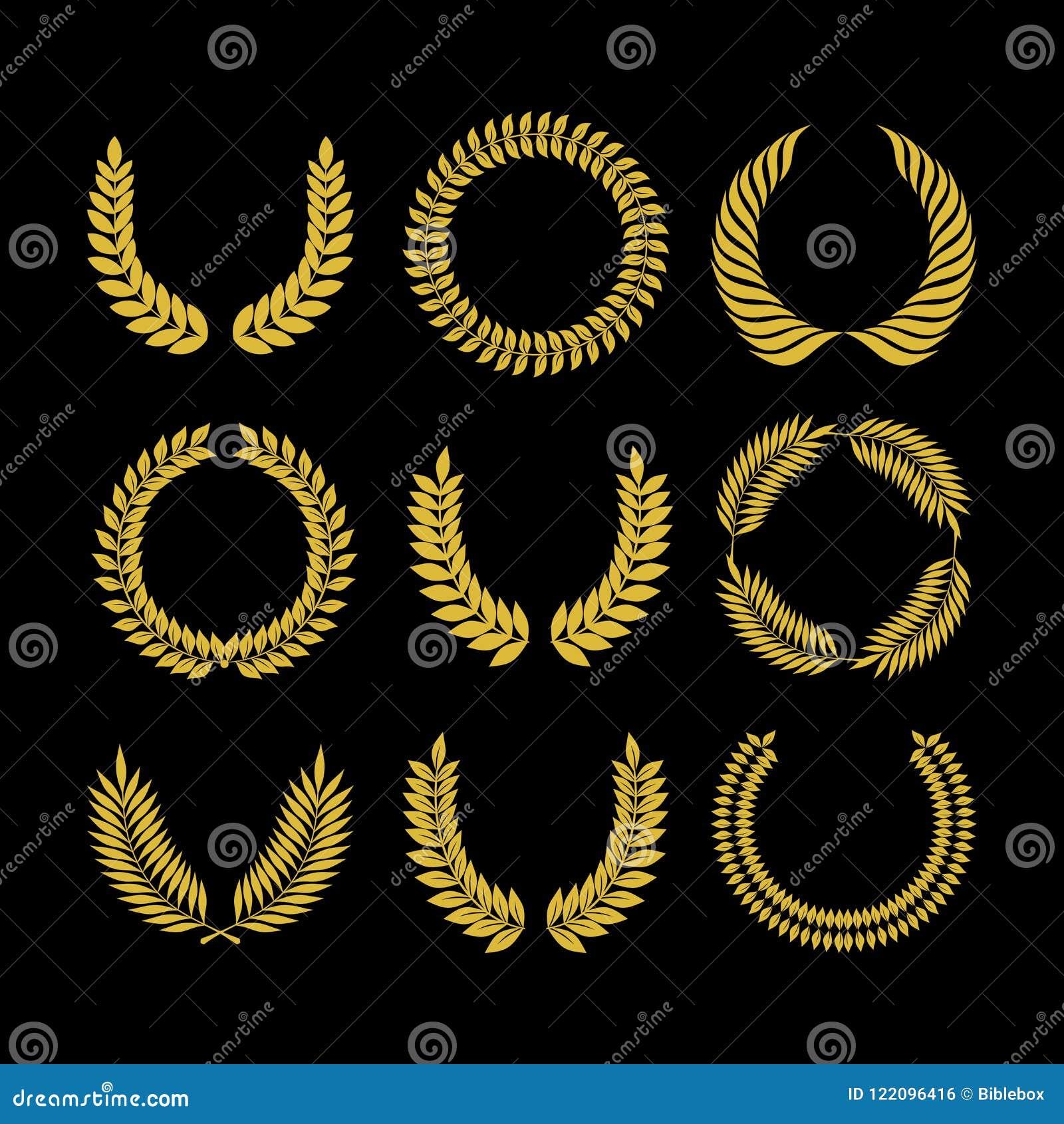 Grande insieme dei globi di vettore, raccolta degli elementi di progettazione per creare il logos Il grande insieme del vettore f